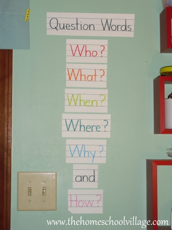 photo Question Words | The Homeschool Village