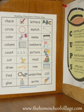 photo of Reading Directions with Independence {free printable} | The Homeschool Classroom