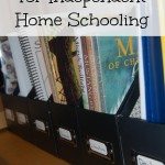 How to Organize for Independent Home Schooling