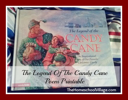 The legend of the candy cane poem printable