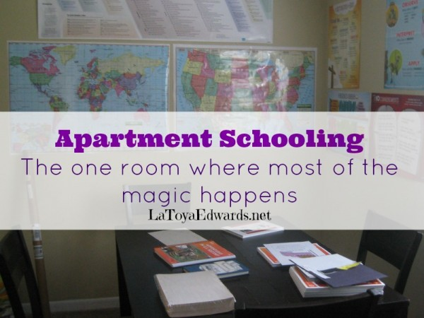 Homeschool Room: Apartment Style. Got a small space? This is for you.