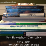 Homeschool Curriculum 1st grade, 3rd grade, and 4th grade