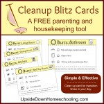 Cleanup Blitz Cards: a FREE Parenting and Housekeeping Tool