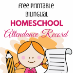 Free Printable Homeschool Attendance Chart (bilingual)