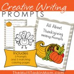 Thanksgiving Creative Writing Prompts {freebie}
