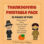 FREE 25-page Thanksgiving Printable Pack