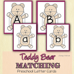 Using Teddy Bear Cards for Preschool Letter Activities Learning