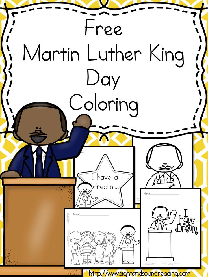 Free Martin Luther King Jr. Day Coloring Pages - The Homeschool ...