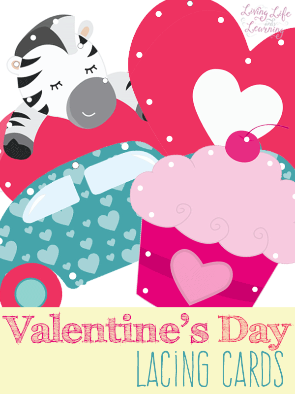 Free Valentine's Day Lacing Cards