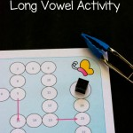 Free Fine Motor Long Vowel Activity Printable