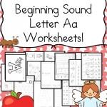 Free Beginning Sound Letter 'A' Worksheets