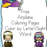 Free Airplane Color by Letter & Sight Word Pages