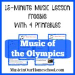 "Free ""Music of the Olympics"" Lesson with Printables"