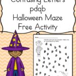 Halloween Worksheet for Confusing Letters