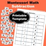Montessori Math ~ Subtraction Printables