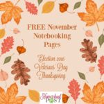 Free November Notebooking Pages